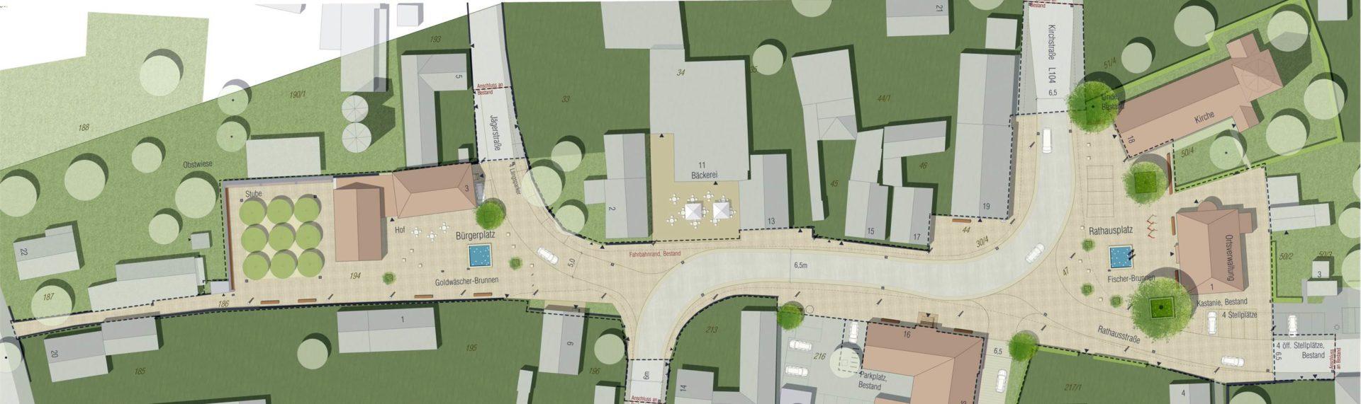 Schwanau, Ortsmitte Ottenheim - Plan