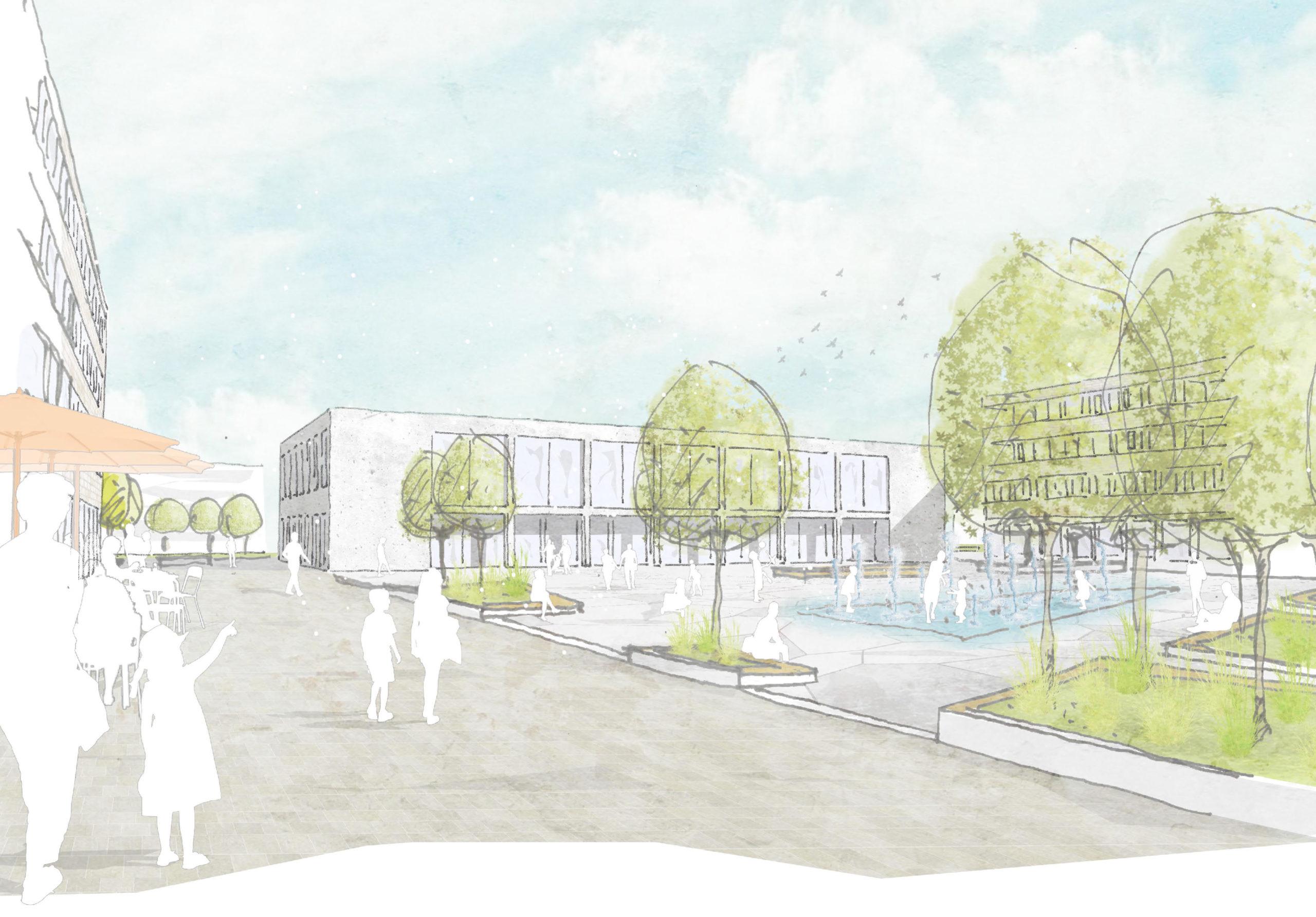 Rheinstetten, Neubau Bürger- und Kulturhaus – 1. Preis