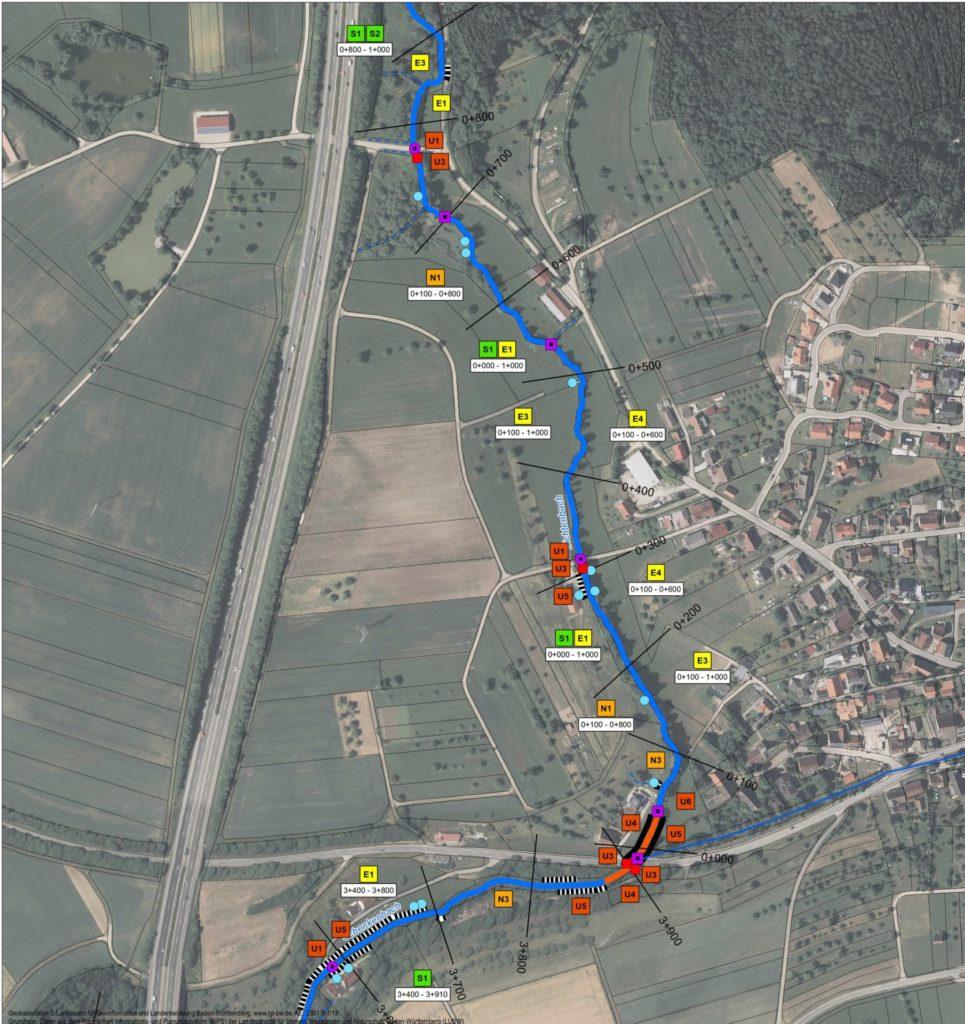 Epfendorf, Gewässerentwicklungsplan - Plan
