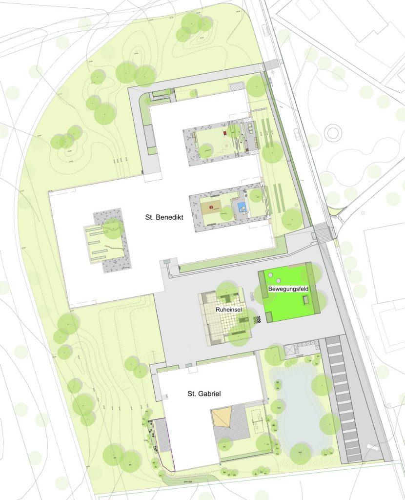 Heiligenbronn, St. Benedikt - Plan