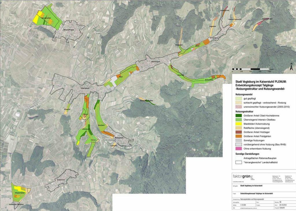 Kaiserstuhl, Entwicklungskonzept Talgänge - Plan