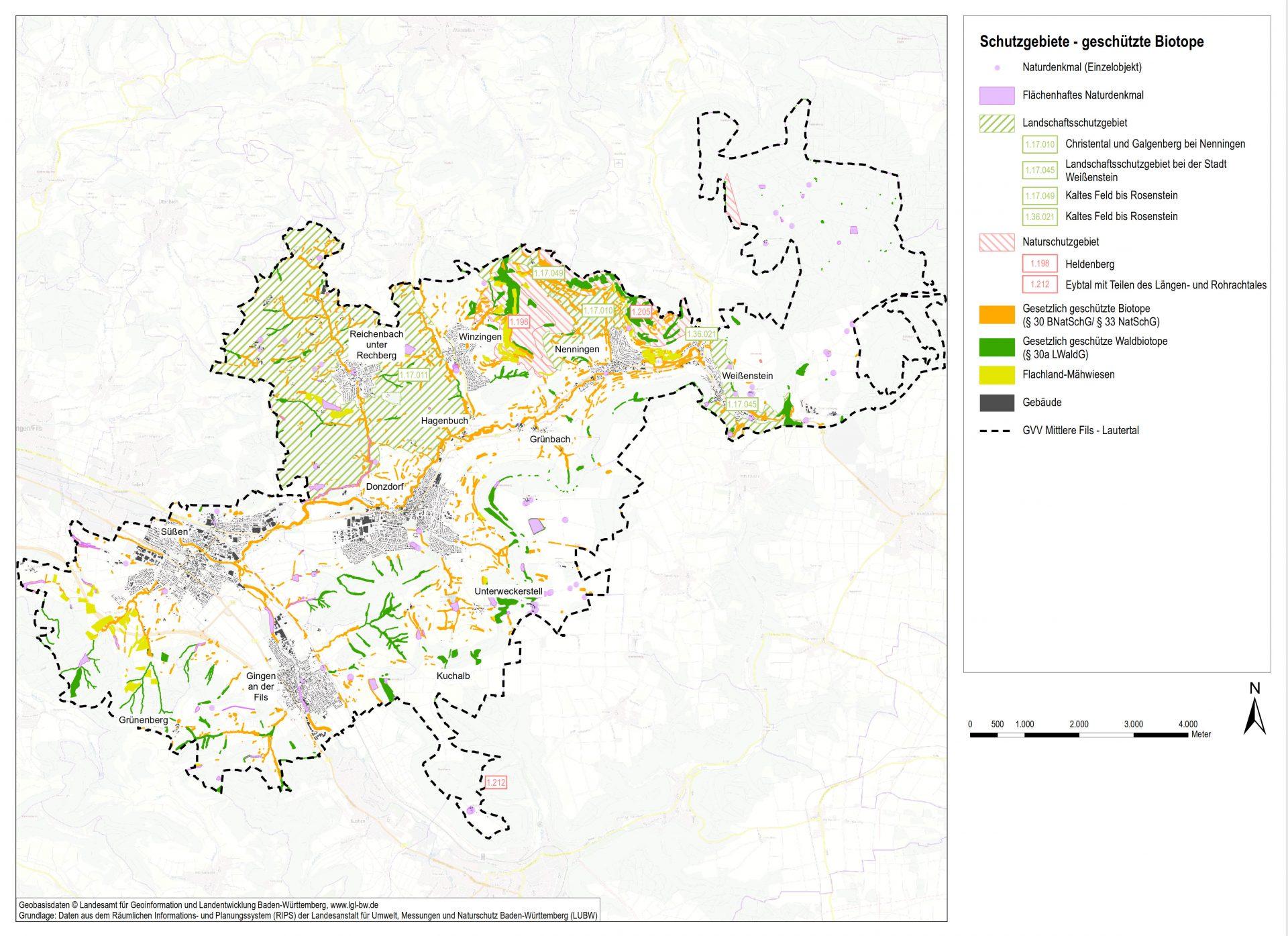 GVV Mittlere Fils - Lautertal, Landschaftsplan