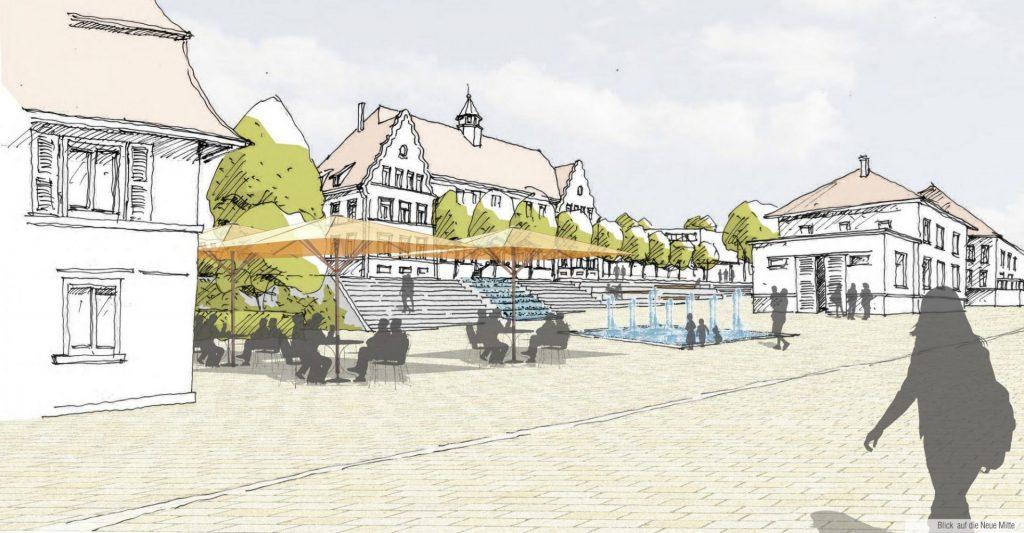Murg, Neue Mitte Am Bürgerplatz - Skizze