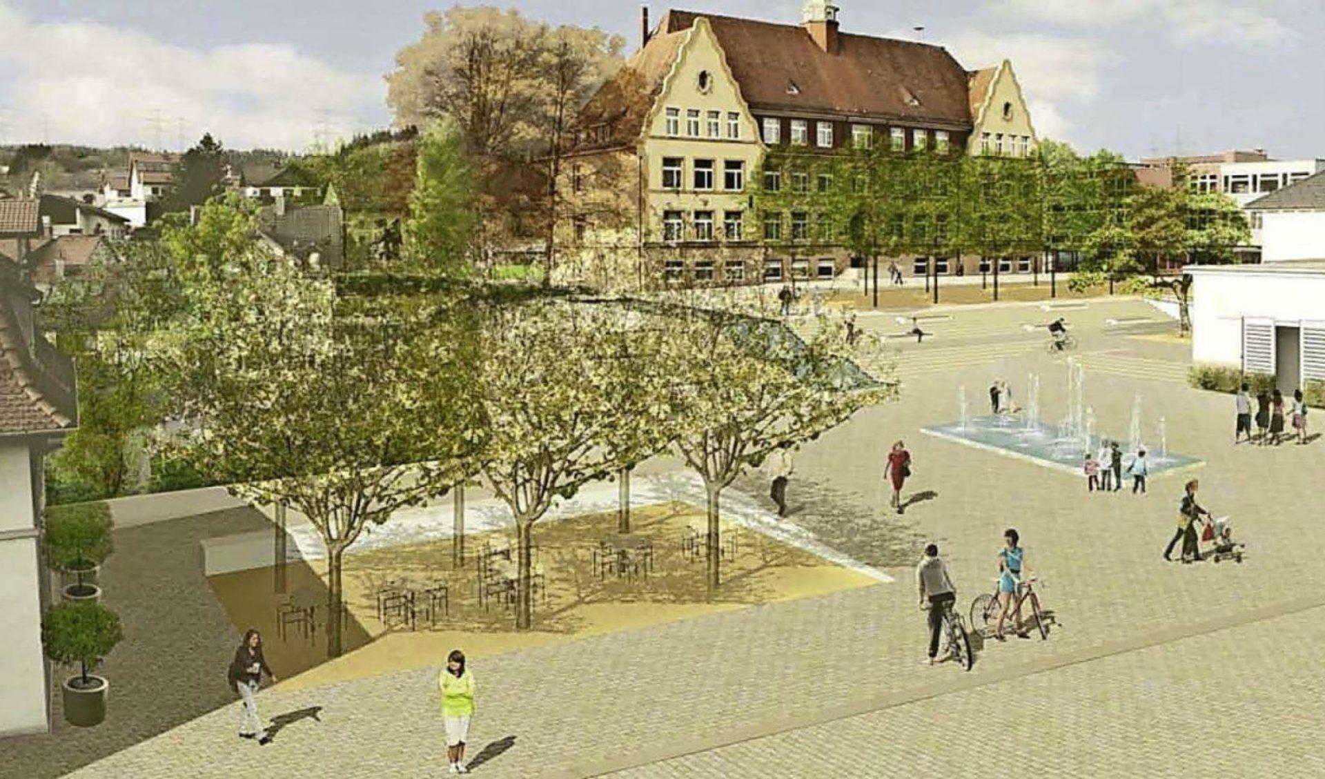Murg, Neue Mitte Am Bürgerplatz - Perspektive