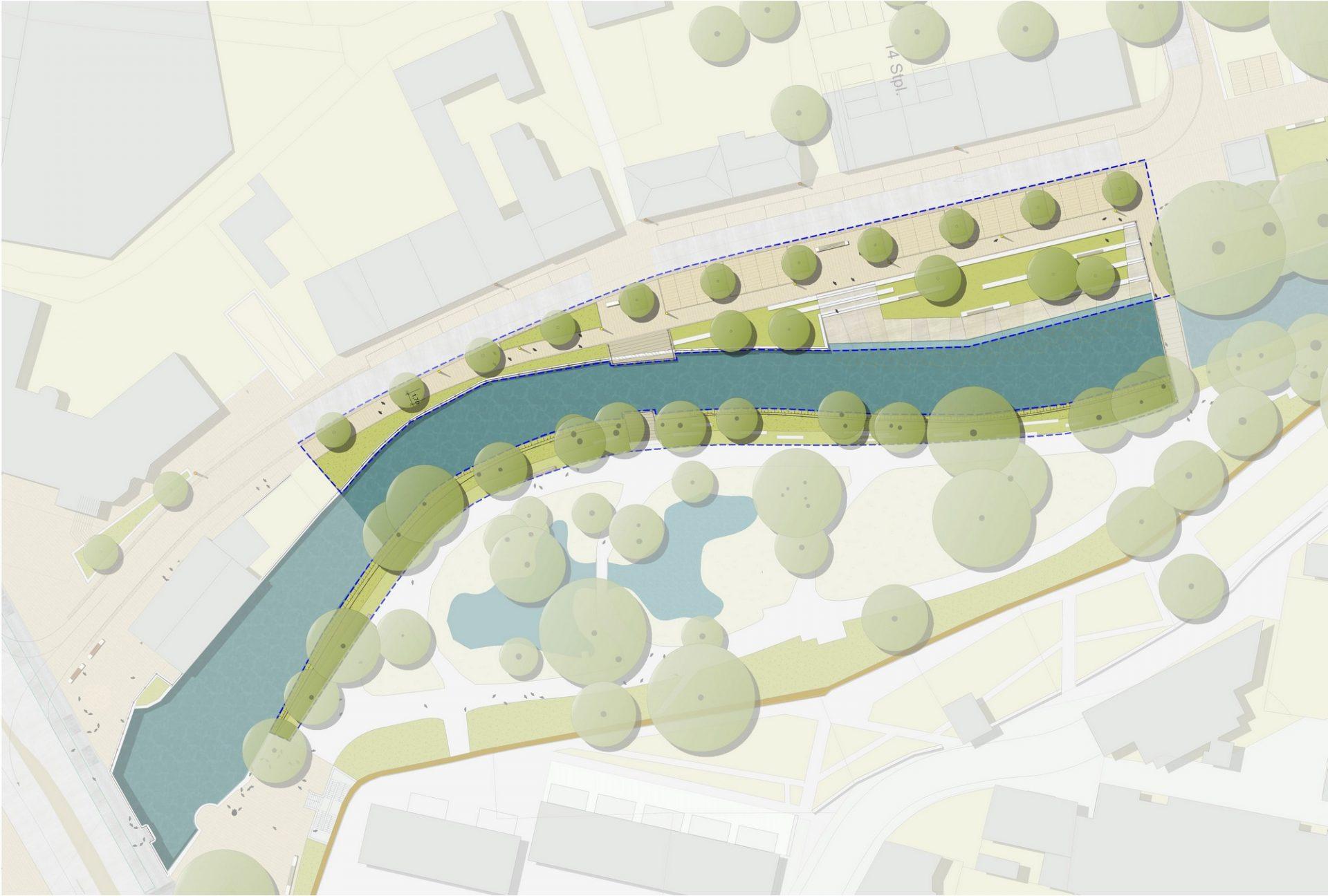 Offenburg, Mühlbachareal - Plan 1. BA