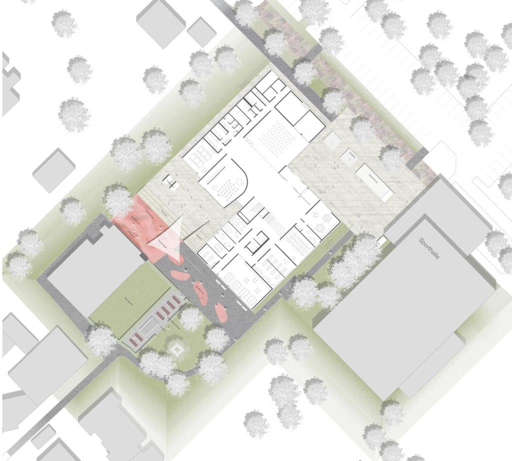 Ostfildern, Grundschule Ruit - Plan
