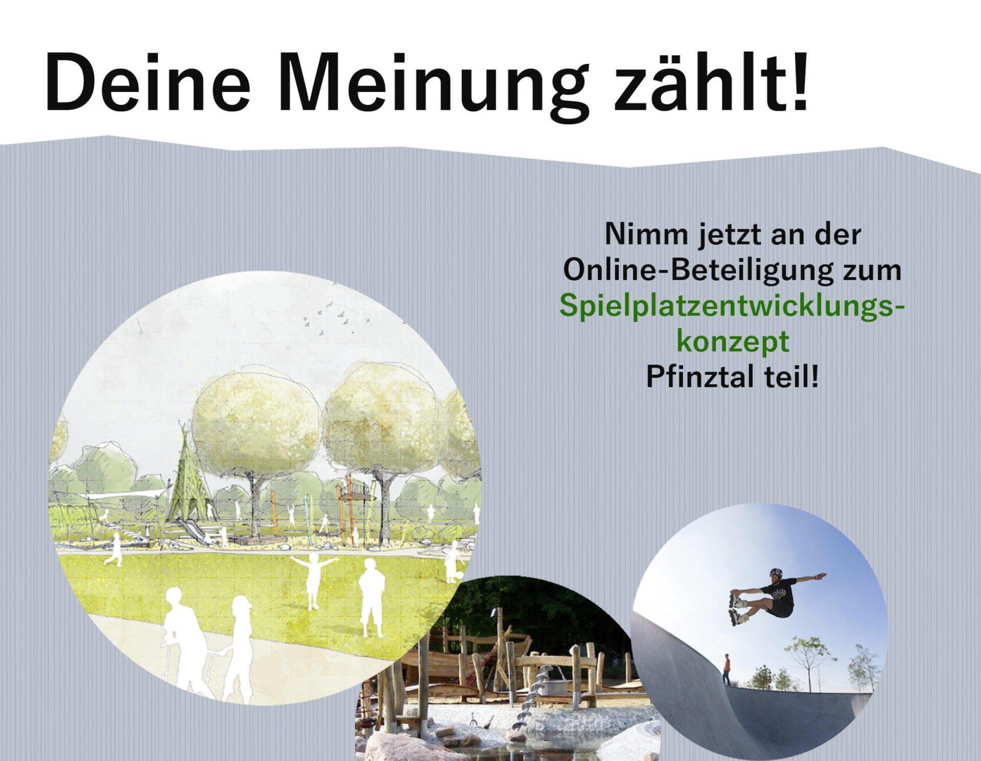 Pfinztal, Spielplatzentwicklung - Plakat Kinder