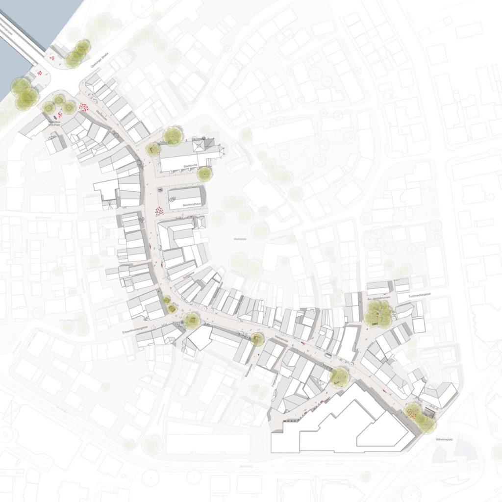 Stuttgart, Möblierungskonzept Marktstraße Bad Cannstatt - Lageplan