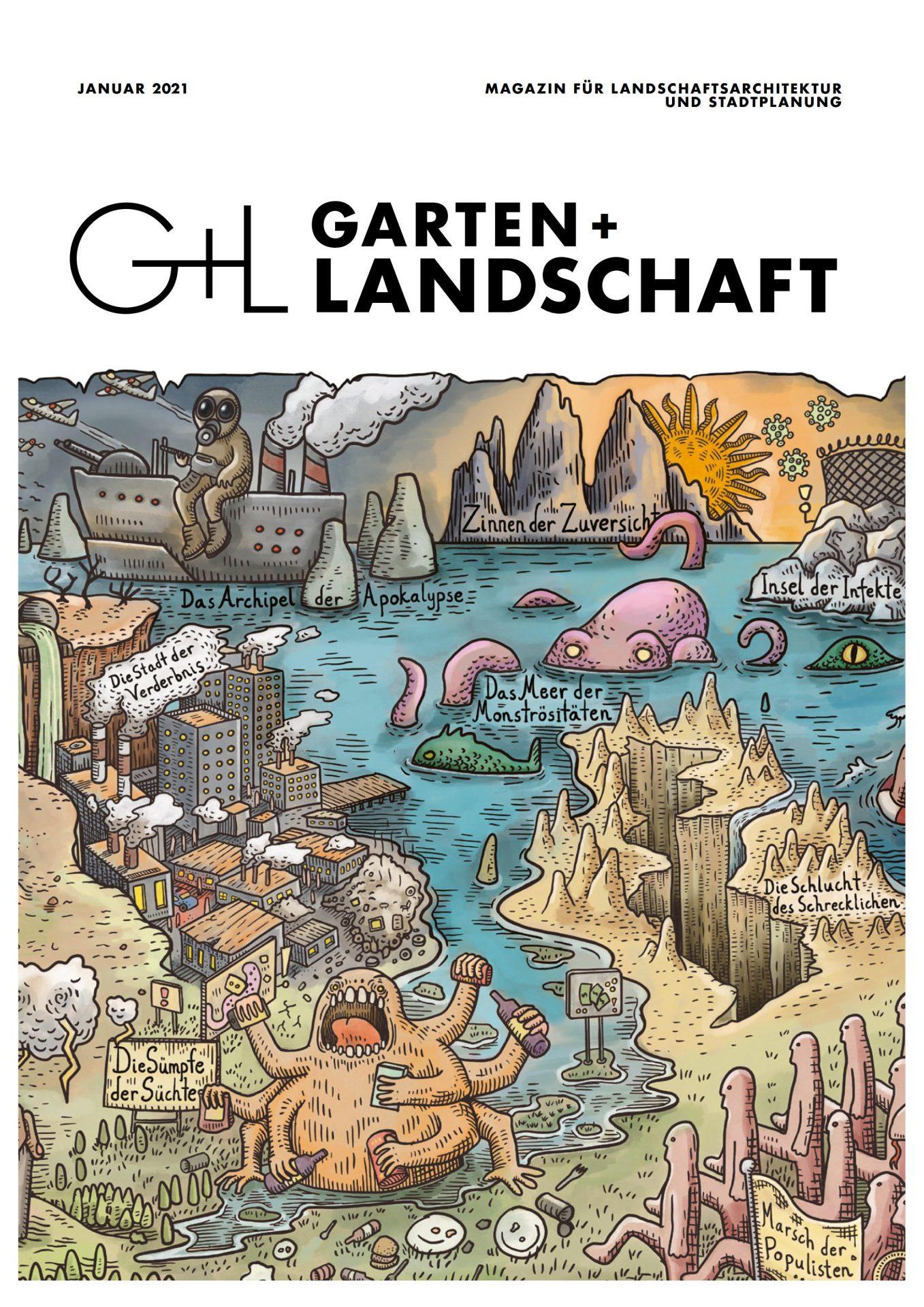GARTEN+LANDSCHAFT Titelseite 01/2021