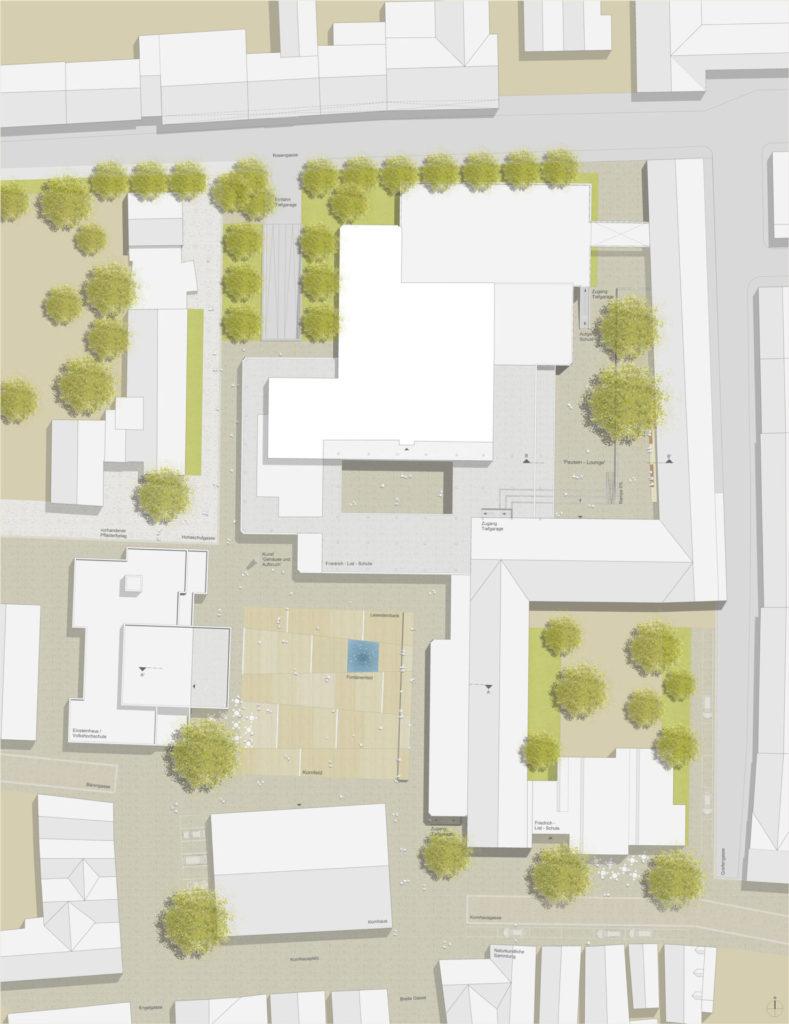 Ulm, Kornhausplatz - Plan