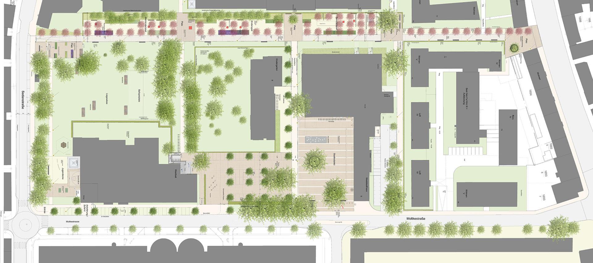 Ulm, Weststadt - Plan